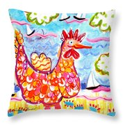 Chicken Of The Sea Throw Pillow