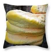 Chicken Of The Woods Throw Pillow