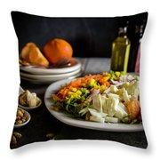 Chicken Salad With An Orange Twist Throw Pillow