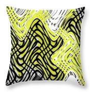 Chicken Scratch Abstract Throw Pillow