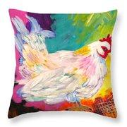 Chicken Scratch Throw Pillow