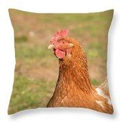 Chicken Strutting Throw Pillow