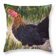 Chicken Study 1 Throw Pillow