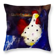 Chickens In The Kitchen Throw Pillow