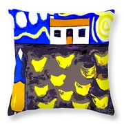 Chickens On The Farm 2 Throw Pillow