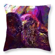 Chicks Hatched Fluffy Young Animal  Throw Pillow