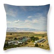Chico Hot Springs Pray Montana Panoramic Throw Pillow