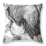 Chico Llamando Aves Throw Pillow