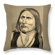 Chief Big Bow Throw Pillow