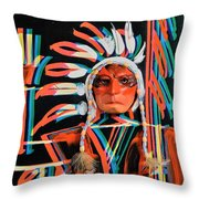 Chief Brill Yount Throw Pillow