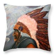 Chief Eagle Cloud Throw Pillow