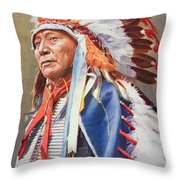 Chief Hollow Horn Bear Throw Pillow by American School