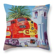 Chief In San Diego Throw Pillow