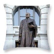 Chief Justice Edward Douglas White Statue- Nola Throw Pillow