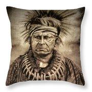 Chief Keokuk  Throw Pillow