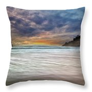 Chief Kiawanda Rock At Cape Kiwanda In Oregon Coast Throw Pillow