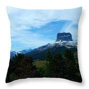 Chief Mountain, Emerging Throw Pillow