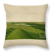 Chief Of The Plains Ojibwa Throw Pillow