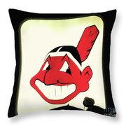 Chief Wahoo  Throw Pillow