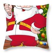 Chiefs Santa Claus Throw Pillow