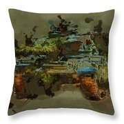 Chieftain Tank Abstract Throw Pillow