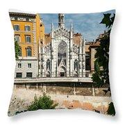 Chiesa Del Sacro Cuore Del Suffragio Throw Pillow