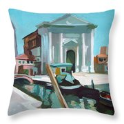 Chiesa San Barnaba Throw Pillow