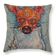 Chihuahua In A Pocket Throw Pillow