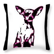 Chihuahua In Pink Throw Pillow