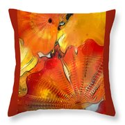 Chihuly Altered Throw Pillow