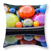 Chihuly Exhibit At The Denver Botanic Gardens Throw Pillow