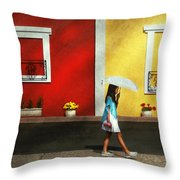 Child - A Bright Sunny Day  Throw Pillow