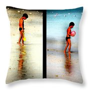 Child At Play Throw Pillow