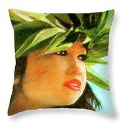 Child Keiki In Hawaiian No# 84 Throw Pillow