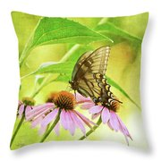 Child Of Sun And Summer Throw Pillow