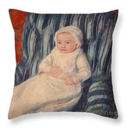 Child On A Sofa Throw Pillow by Mary Cassatt