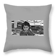 Child Portrait Throw Pillow