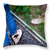 Child Reflection Throw Pillow