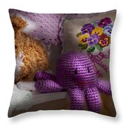 Child - Toy - Octopus In My Closet  Throw Pillow