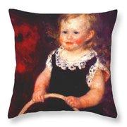 Child With A Hoop Throw Pillow