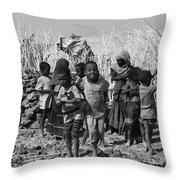 Childern Of The Danakil, Ethiopia Throw Pillow
