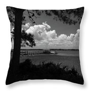Childhood Memories On The Water Throw Pillow