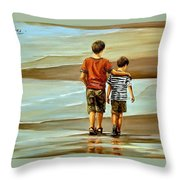 Childhood Shore Throw Pillow