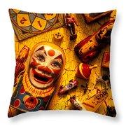 Childhood Toys Throw Pillow