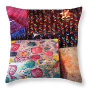 Children - Happy Birthday Throw Pillow by Mike Savad