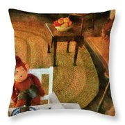 Children - Toys - The Tea Party Throw Pillow by Mike Savad
