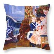 Children Afternoon At Wargemont Marguerite 1884 Throw Pillow