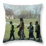 Children Crossing Throw Pillow