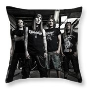 Children Of Bodom Throw Pillow