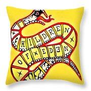 Children Of Eden's Snake Of Temptation Throw Pillow